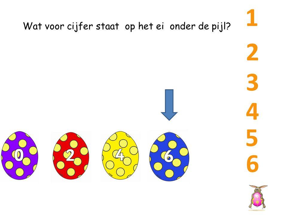 1 Wat voor cijfer staat op het ei onder de pijl 2 3 4 5 6