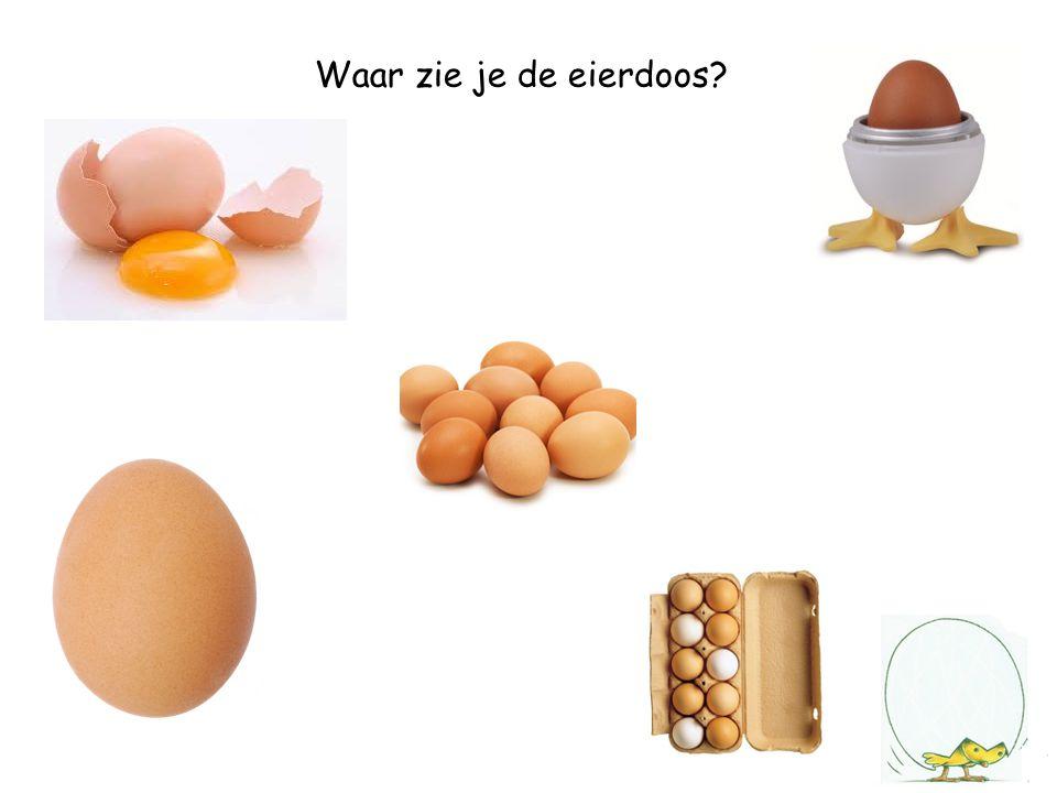 Waar zie je de eierdoos