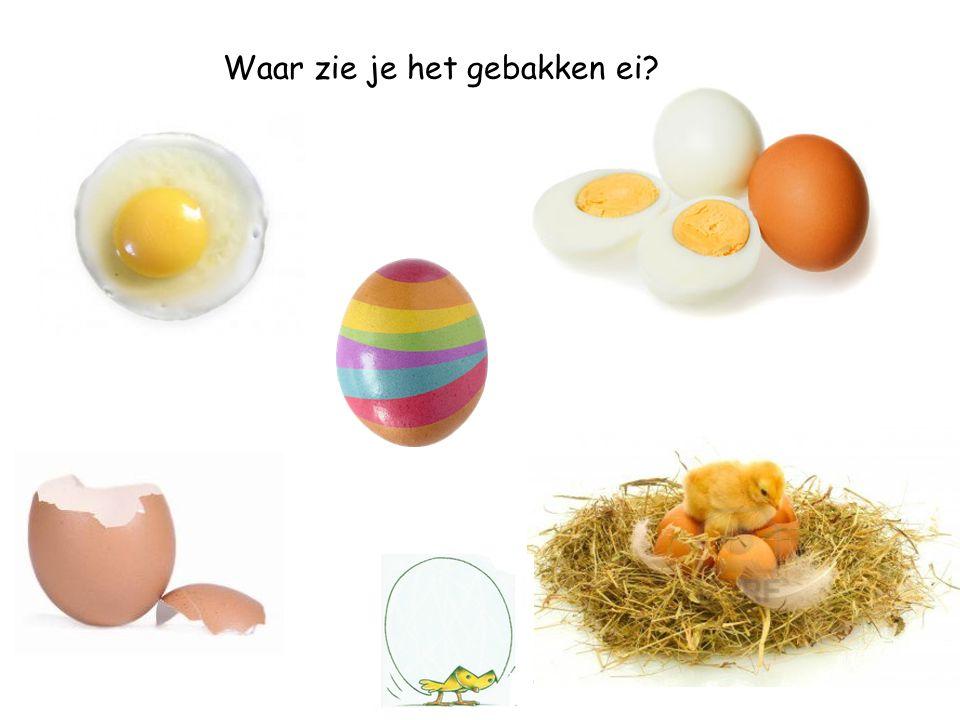 Waar zie je het gebakken ei