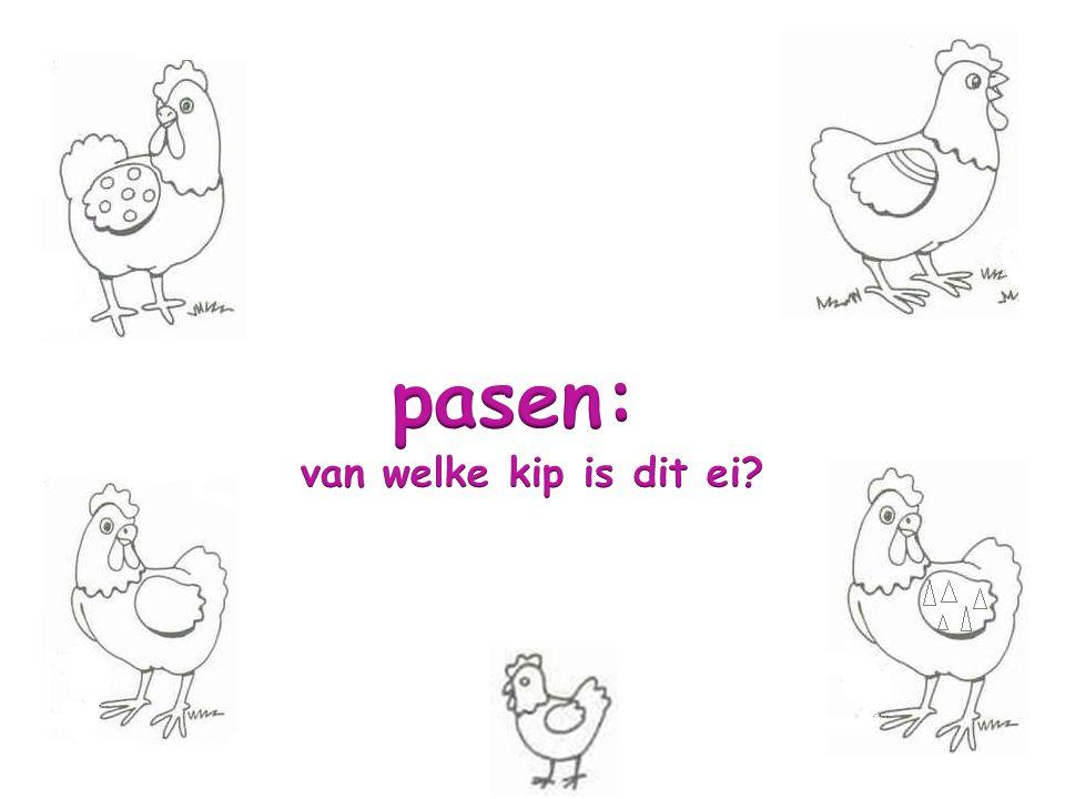 pasen: van welke kip is dit ei