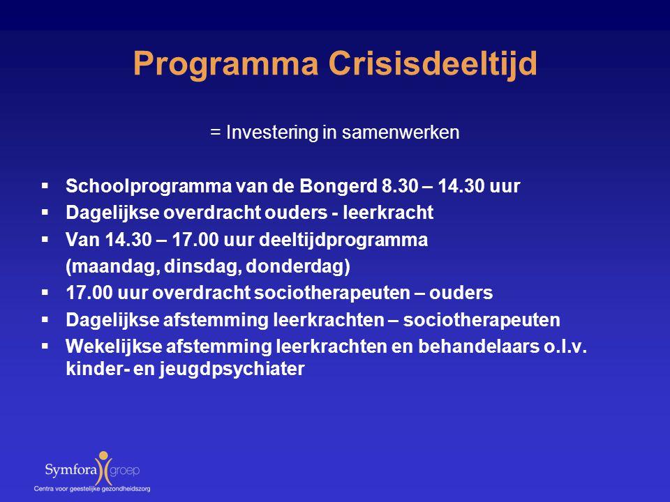 Programma Crisisdeeltijd