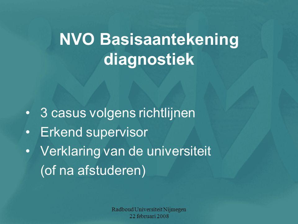 NVO Basisaantekening diagnostiek