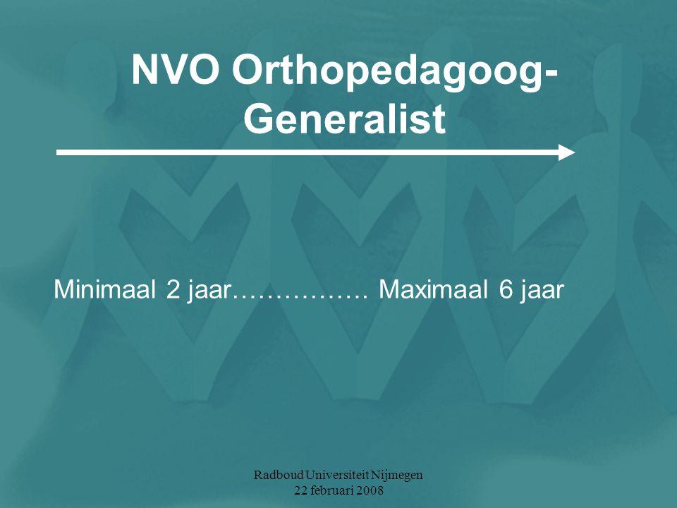 NVO Orthopedagoog-Generalist