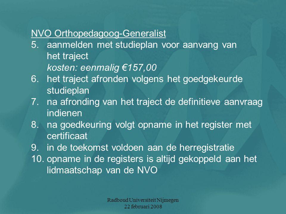 Radboud Universiteit Nijmegen 22 februari 2008