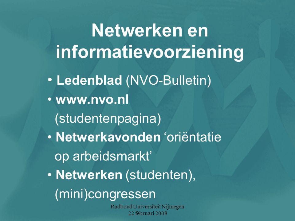Netwerken en informatievoorziening