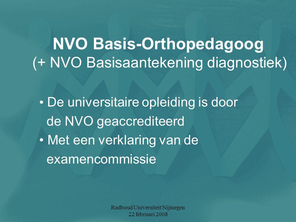NVO Basis-Orthopedagoog (+ NVO Basisaantekening diagnostiek)