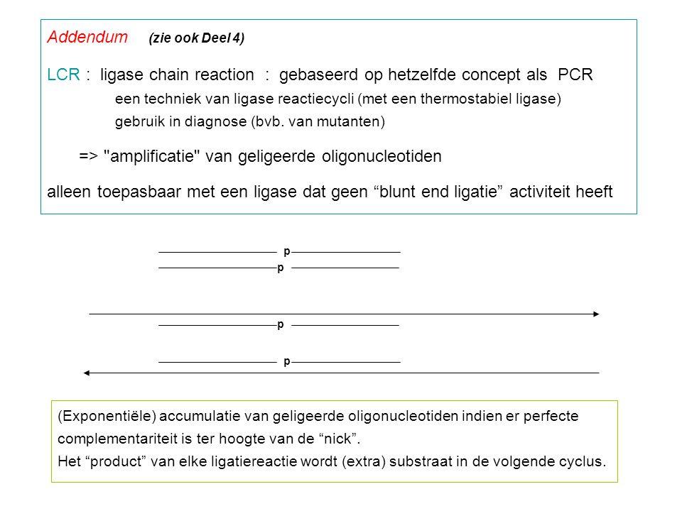Addendum (zie ook Deel 4)
