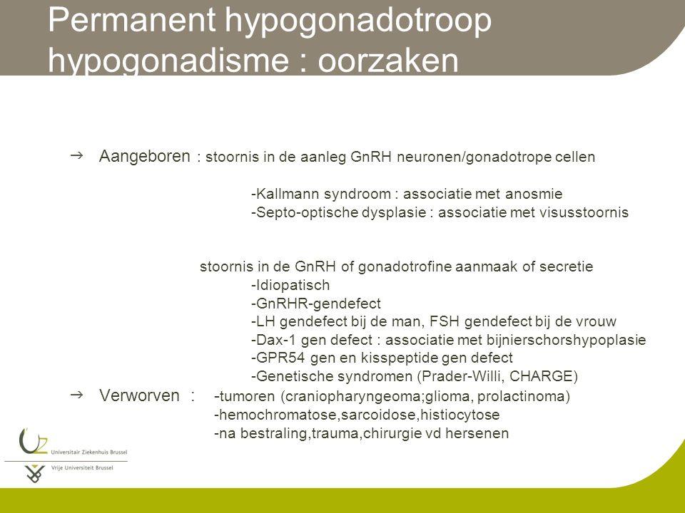 Permanent hypogonadotroop hypogonadisme : oorzaken