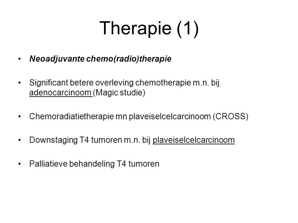 Therapie (1) Neoadjuvante chemo(radio)therapie