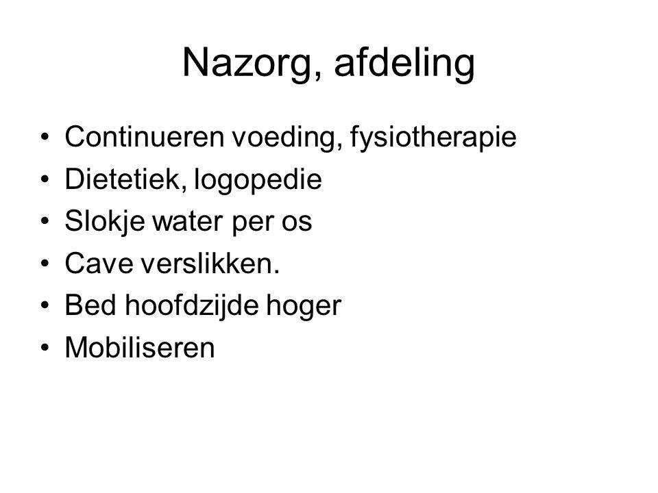Nazorg, afdeling Continueren voeding, fysiotherapie