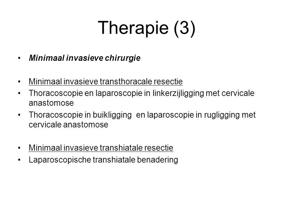 Therapie (3) Minimaal invasieve chirurgie