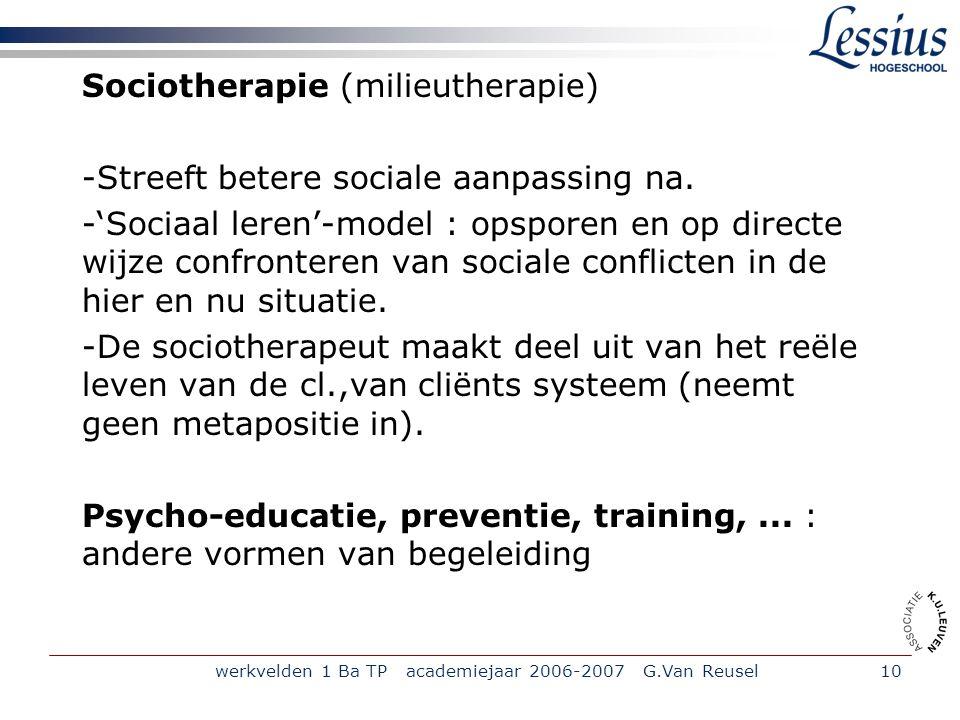 Sociotherapie (milieutherapie)