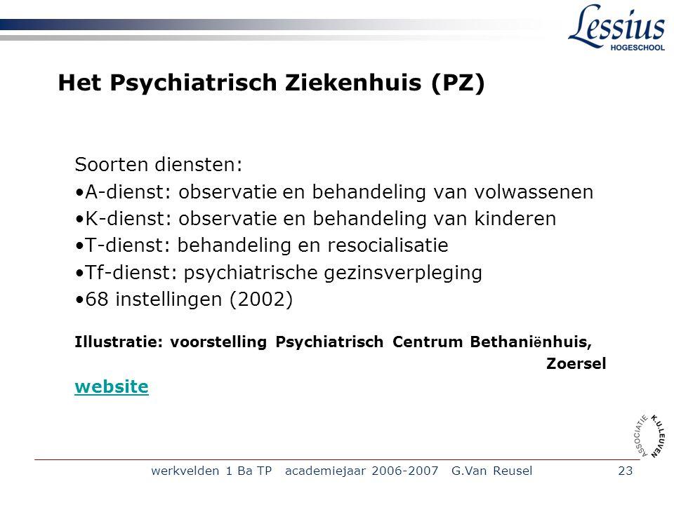 Het Psychiatrisch Ziekenhuis (PZ)