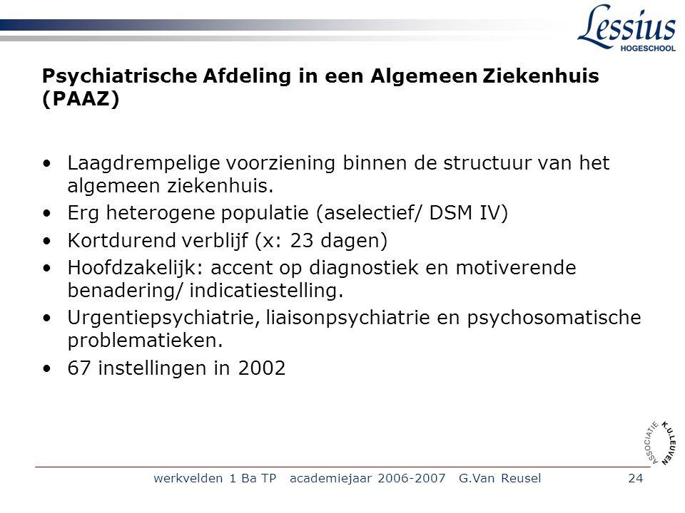 Psychiatrische Afdeling in een Algemeen Ziekenhuis (PAAZ)