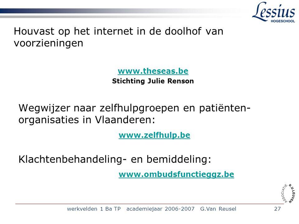Houvast op het internet in de doolhof van voorzieningen