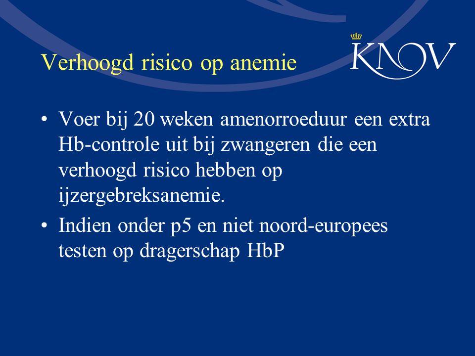 Verhoogd risico op anemie