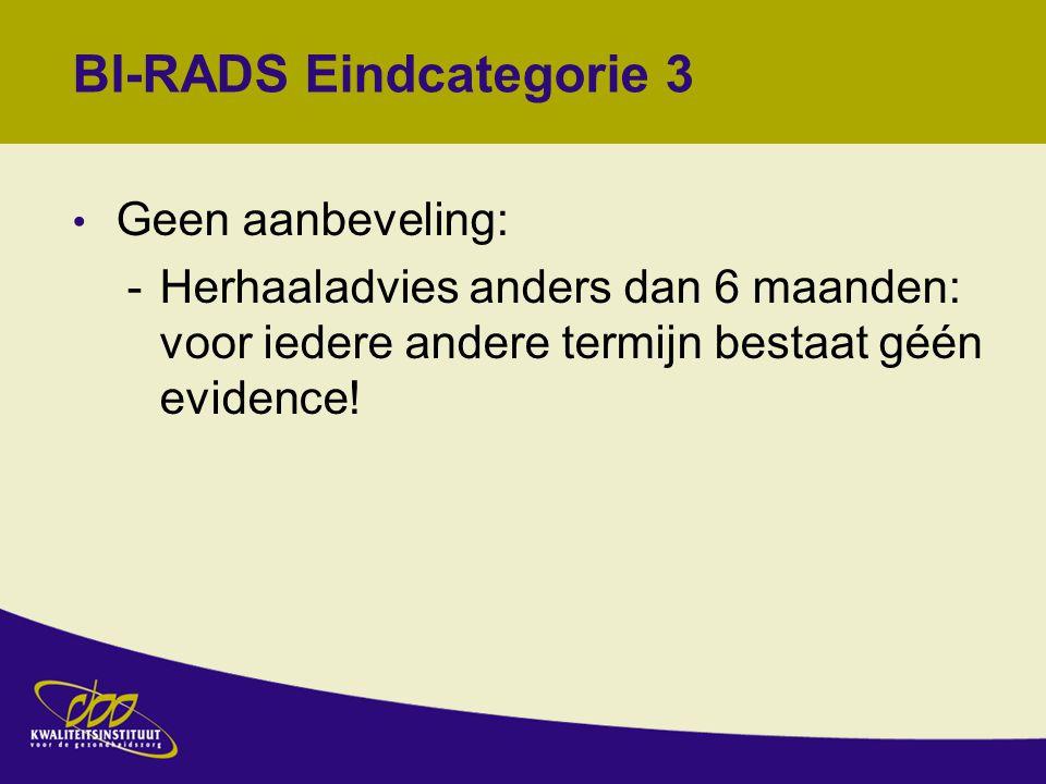 BI-RADS Eindcategorie 3