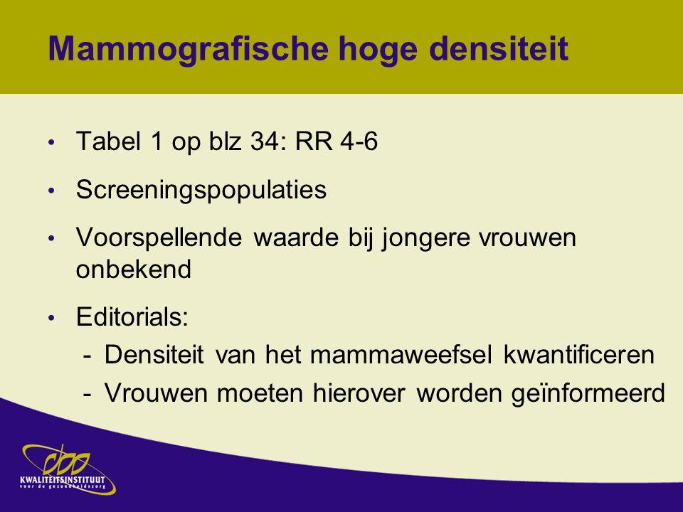 Mammografische hoge densiteit