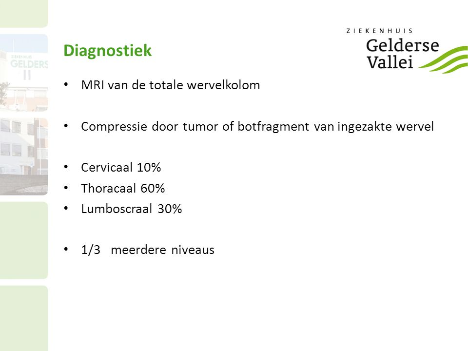 Diagnostiek MRI van de totale wervelkolom