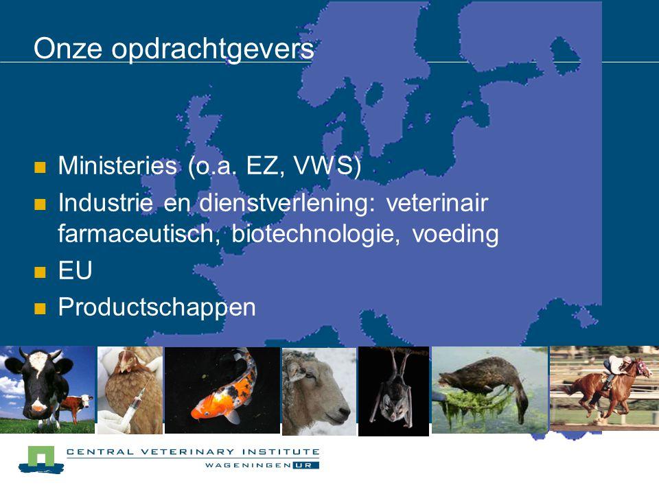 Onze opdrachtgevers Ministeries (o.a. EZ, VWS)