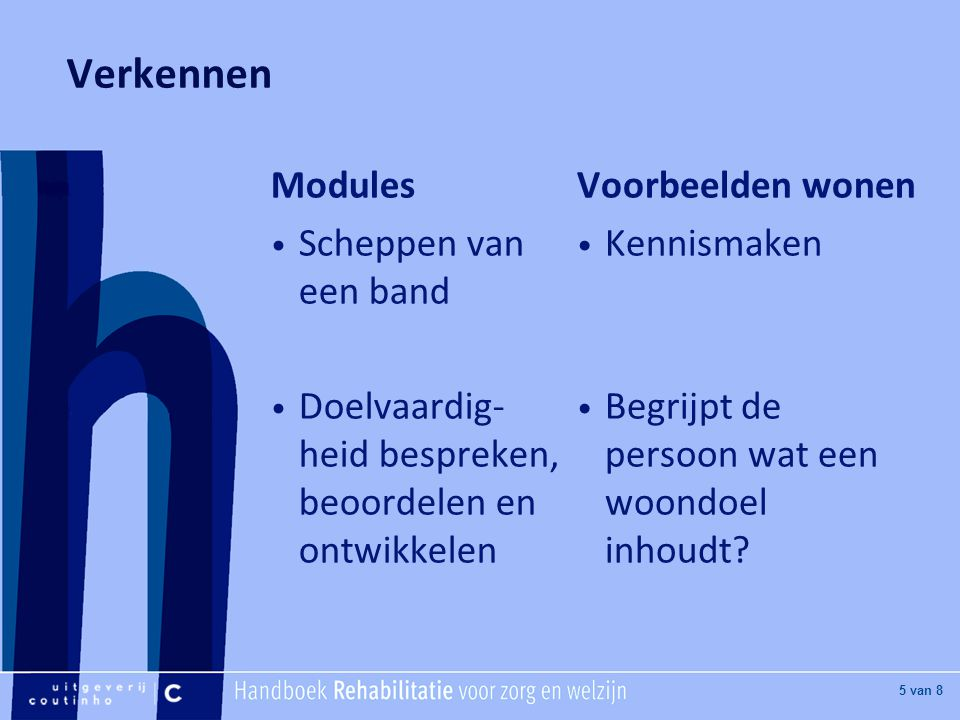 Verkennen Modules Scheppen van een band