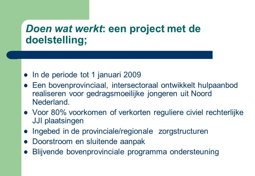 Doen wat werkt: een project met de doelstelling;