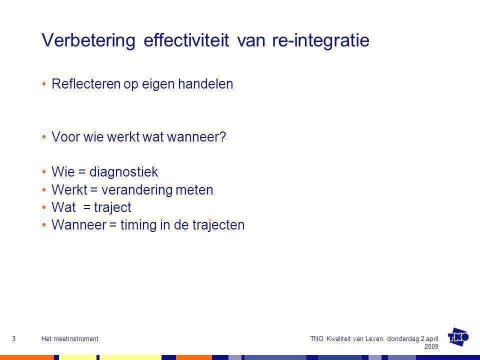 Verbetering effectiviteit van re-integratie
