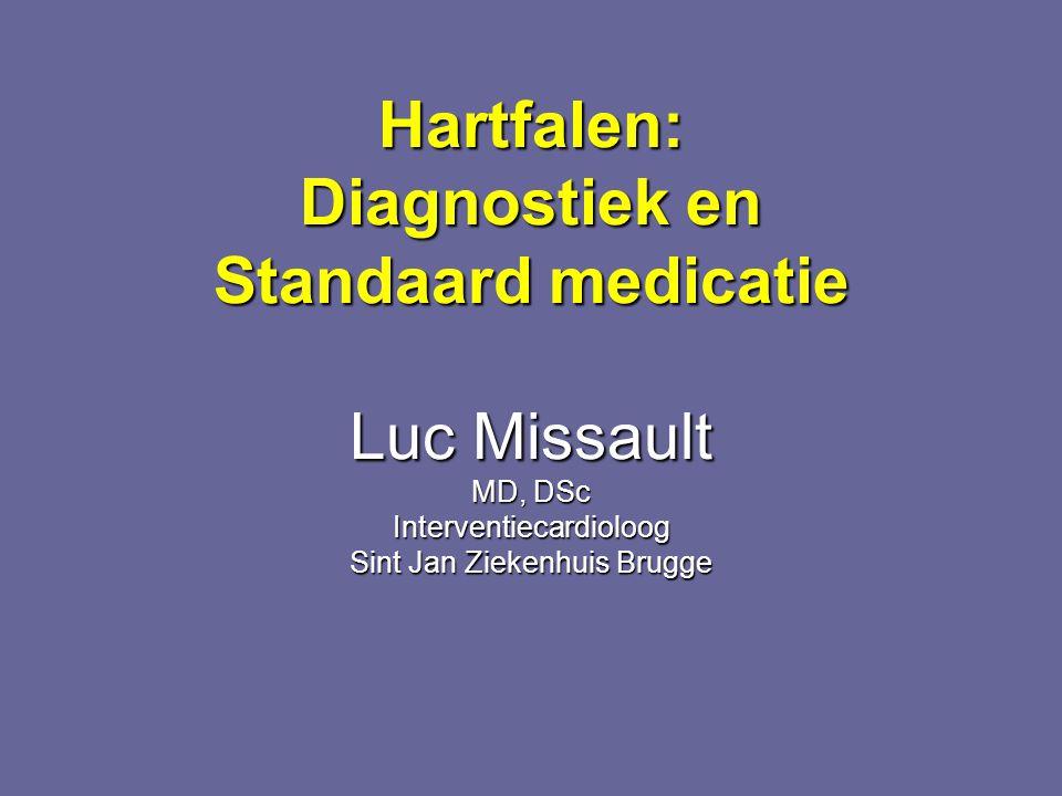 Hartfalen: Diagnostiek en Standaard medicatie Luc Missault MD, DSc Interventiecardioloog Sint Jan Ziekenhuis Brugge
