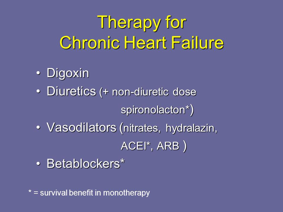 Therapy for Chronic Heart Failure