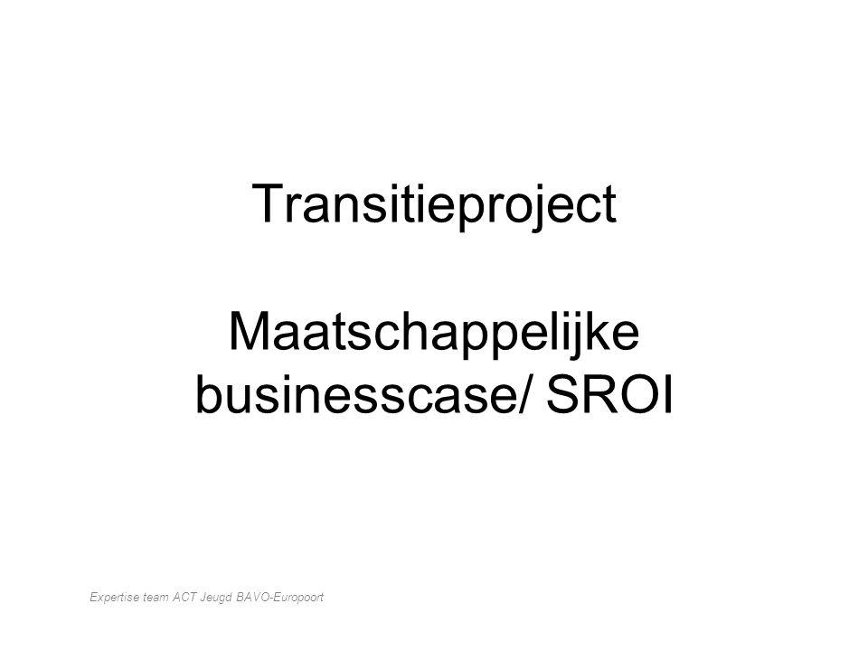 Transitieproject Maatschappelijke businesscase/ SROI