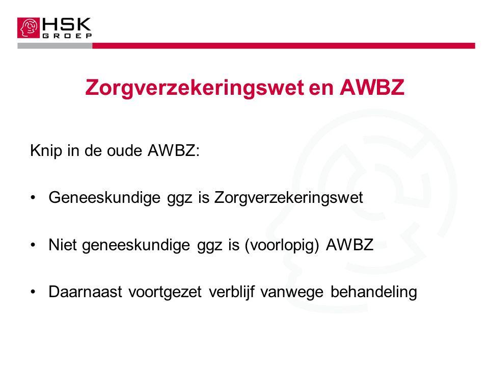 Zorgverzekeringswet en AWBZ