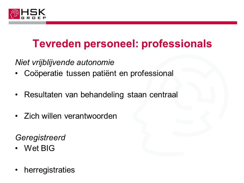 Tevreden personeel: professionals