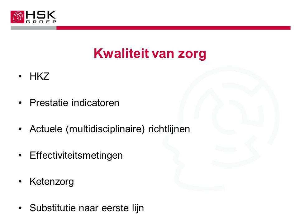 Kwaliteit van zorg HKZ Prestatie indicatoren