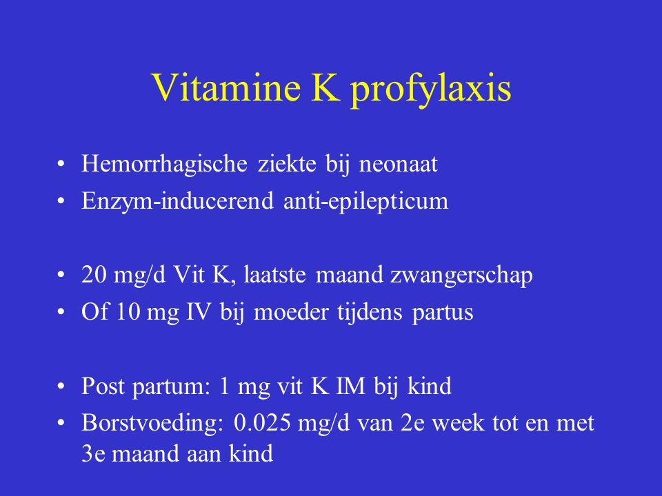 Vitamine K profylaxis Hemorrhagische ziekte bij neonaat