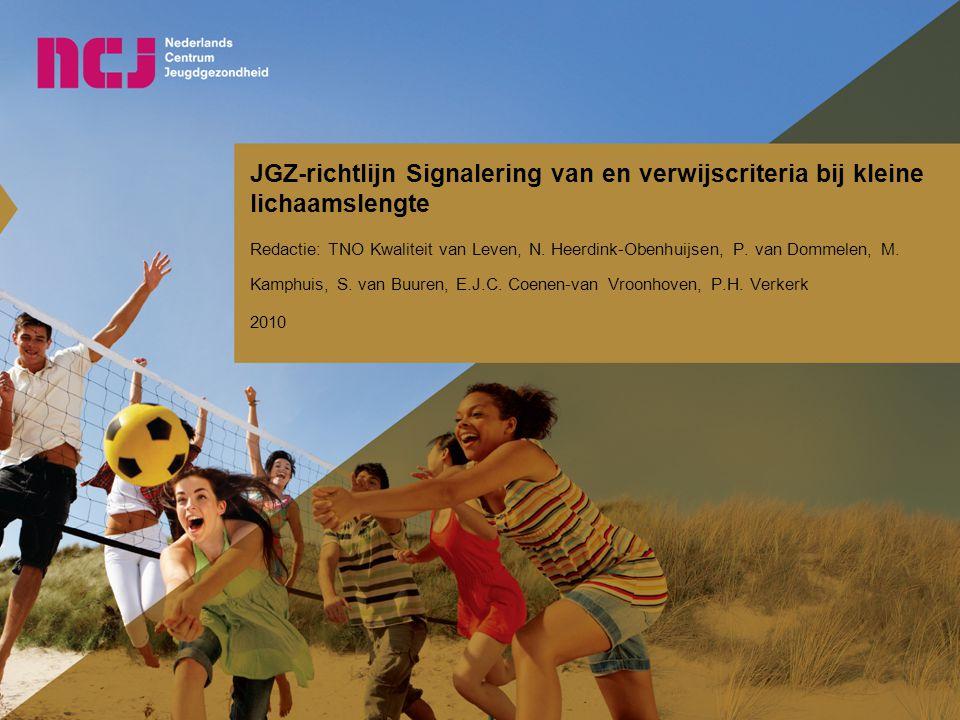 JGZ-richtlijn Signalering van en verwijscriteria bij kleine lichaamslengte