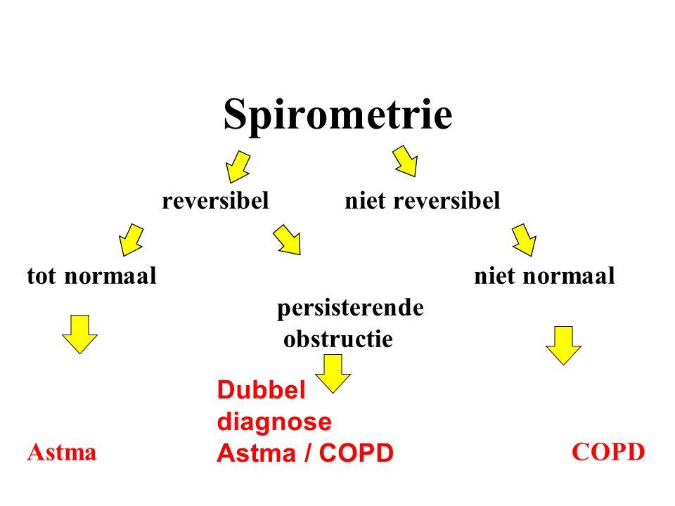 Spirometrie reversibel niet reversibel