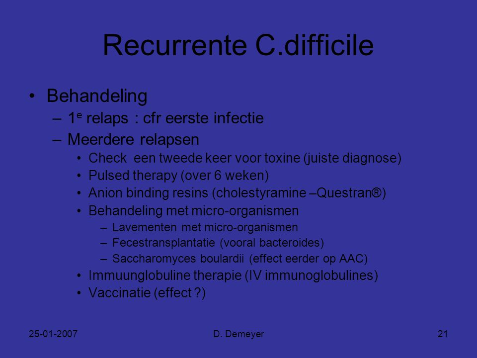 Recurrente C.difficile