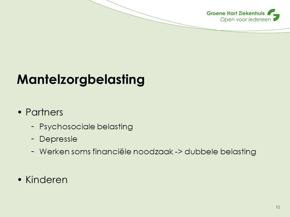 Mantelzorgbelasting Partners Kinderen Psychosociale belasting