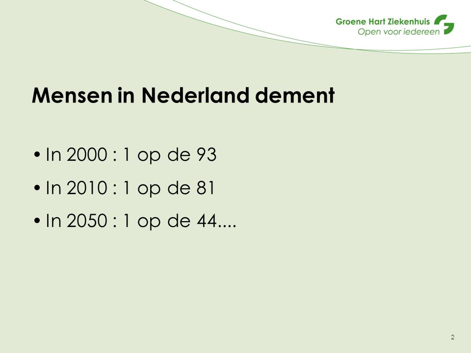 Mensen in Nederland dement