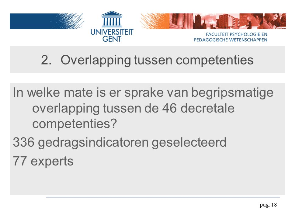 Overlapping tussen competenties