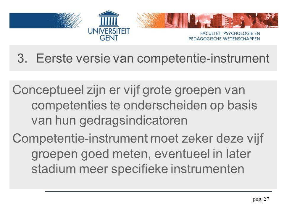 Eerste versie van competentie-instrument