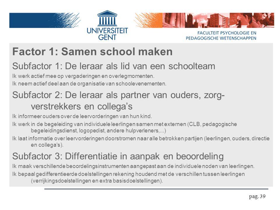 Factor 1: Samen school maken