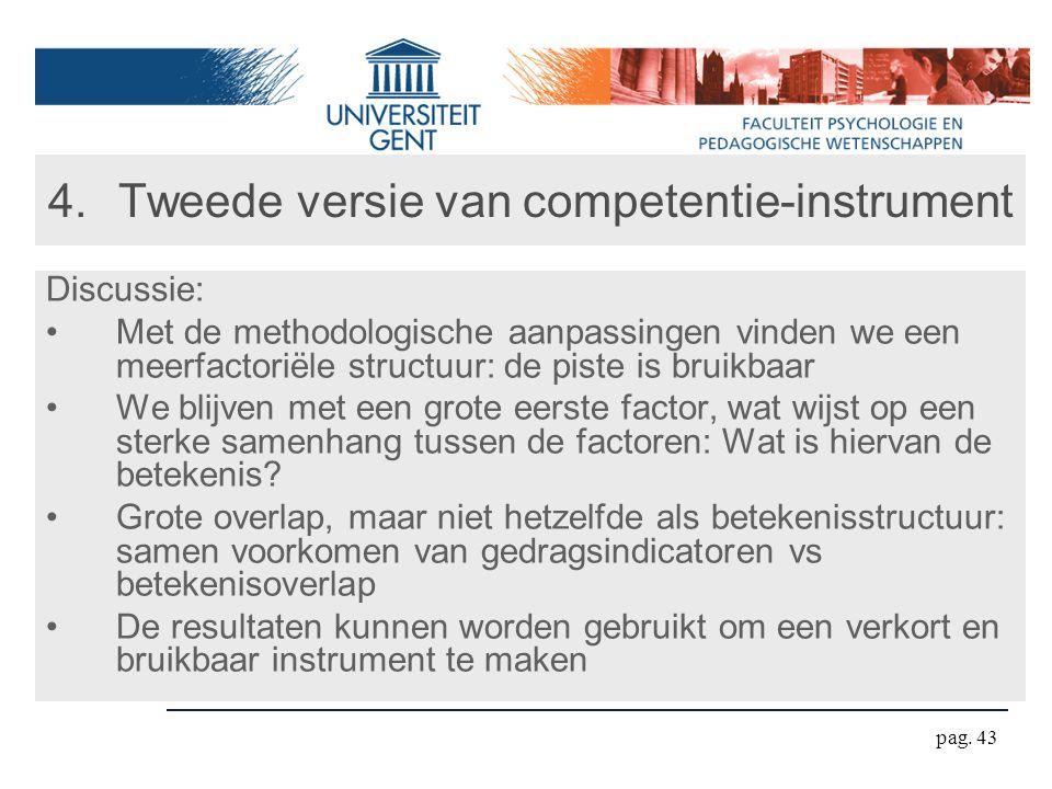 Tweede versie van competentie-instrument