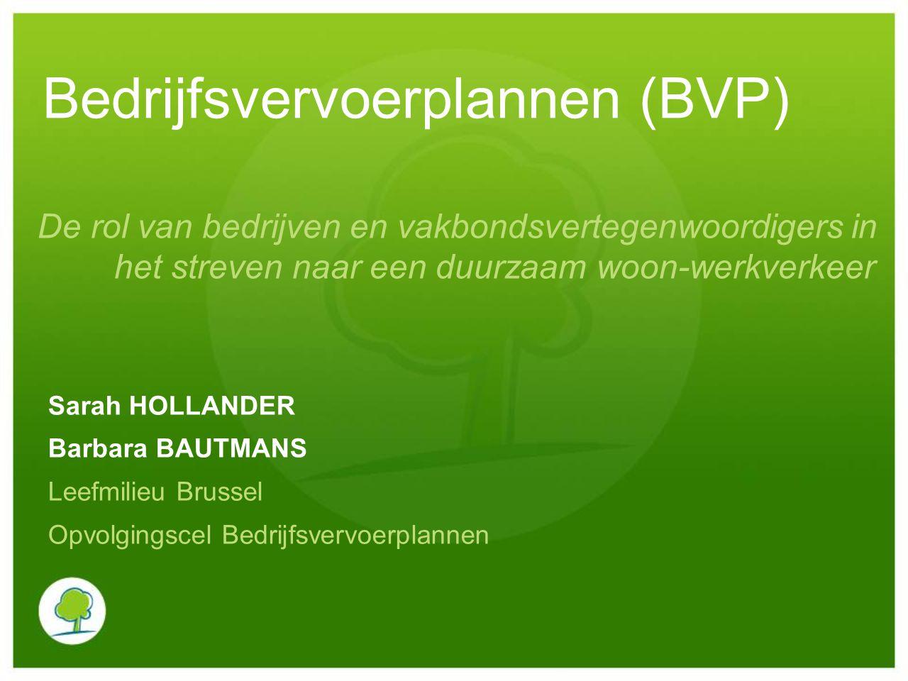 Bedrijfsvervoerplannen (BVP)