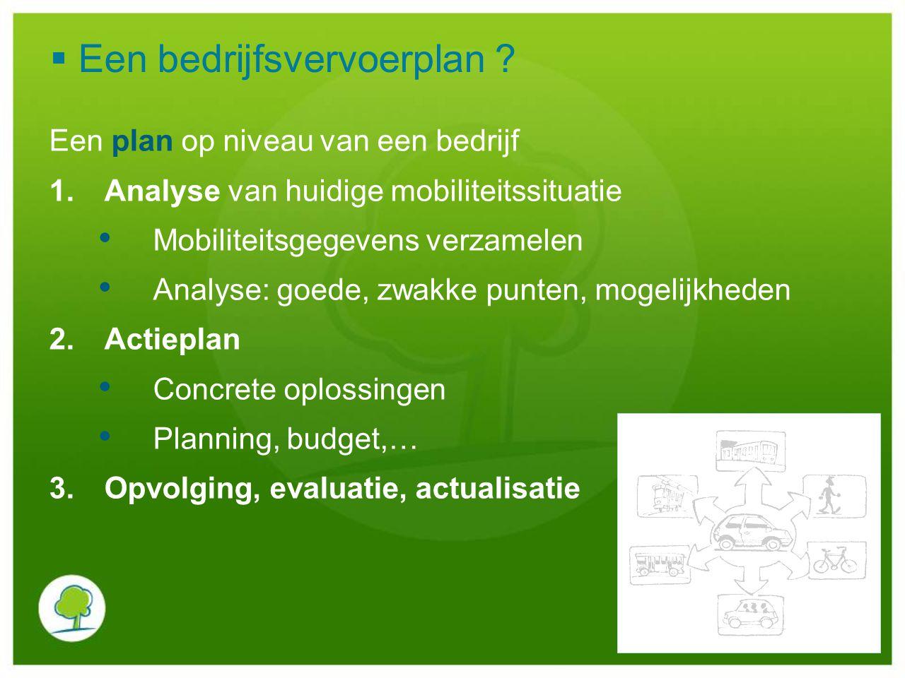Een bedrijfsvervoerplan
