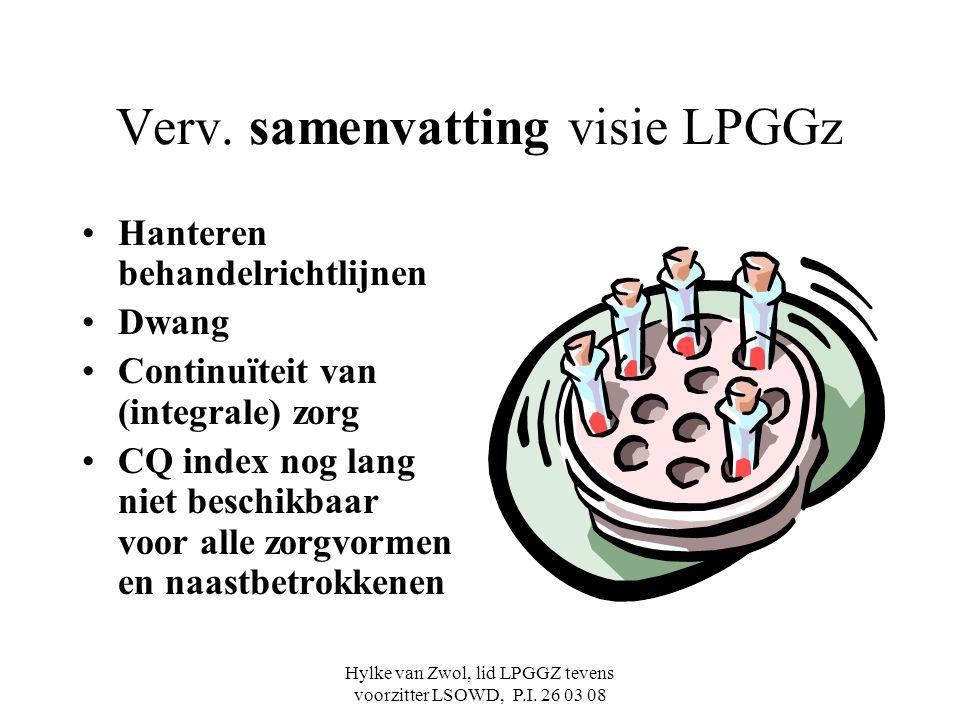 Verv. samenvatting visie LPGGz
