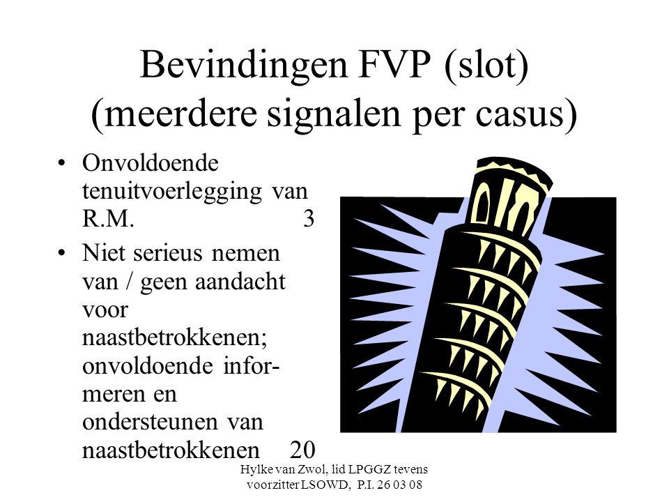 Bevindingen FVP (slot) (meerdere signalen per casus)