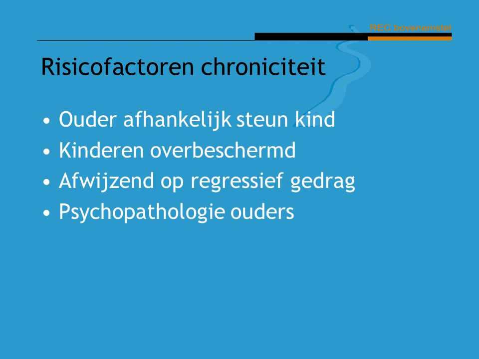 Risicofactoren chroniciteit