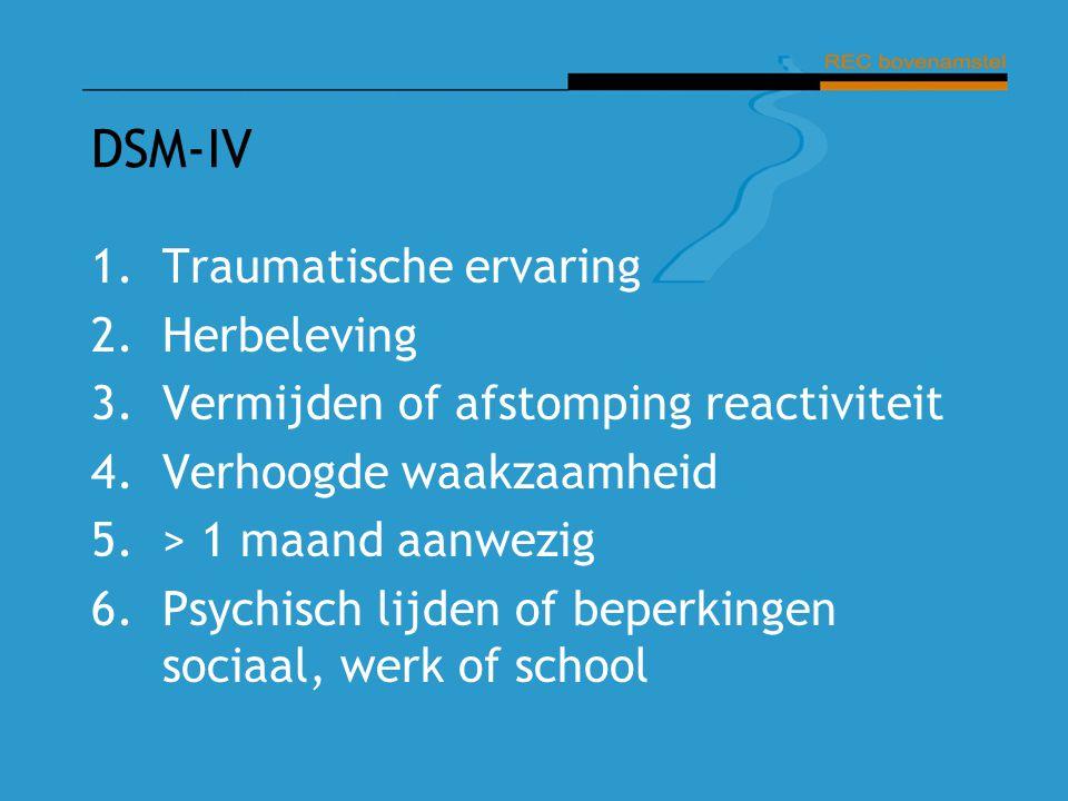 DSM-IV Traumatische ervaring Herbeleving