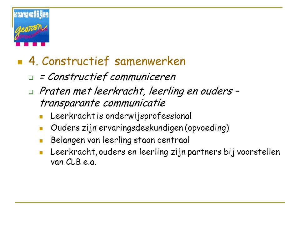 4. Constructief samenwerken